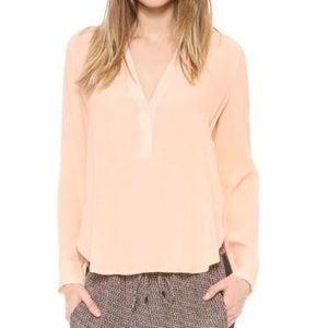 VINCE PEACH SILK BLOUSE